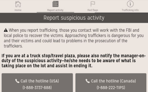 Truckers Against Trafficking app